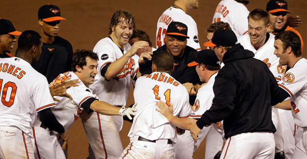 The 2011 season ending was considered one of the most memorable in baseball history, including the O's eliminating the Red Sox on the final day of the regular season. (Rob Carr/Getty Images North America)