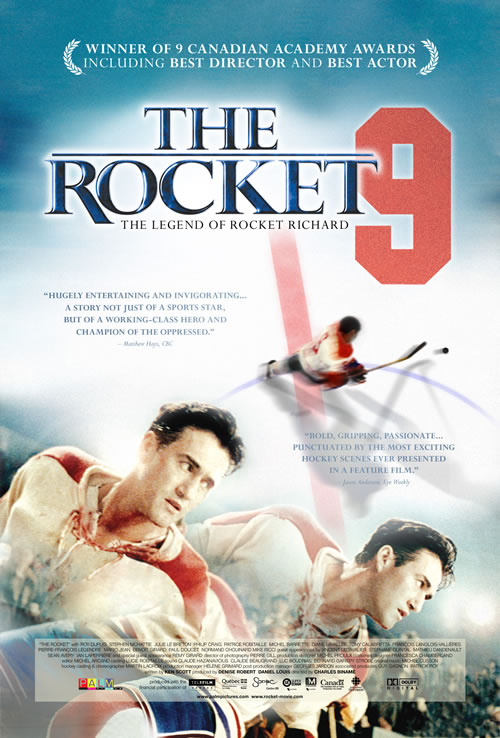 "Originally released in Nov. 2005 as ""Maurice Richard"" in Canada,  ""The Rocket"" was distributed to the United States in April 2007."